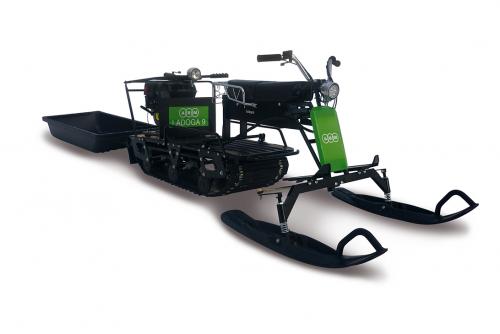 Мотобуксировщик Ладога 9V с лыжным модулем