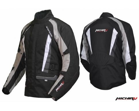 Куртка мотоциклетная Traveller черно- серебристая