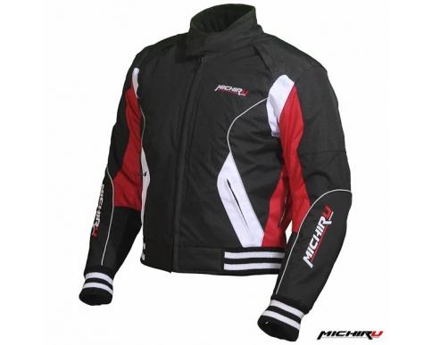 Куртка мотоциклетная Urban черно-красная