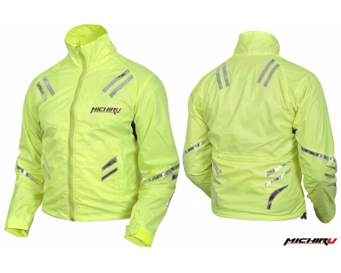 Куртка мотоциклетная Safety Jacket лимонная