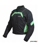 Куртка мотоциклетная City черно-зеленая