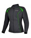Куртка мотоциклетная Metropolis Lady черно-зеленая